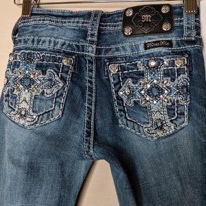Miss Me Skinny Jeans Bling Embellished Back Pocket